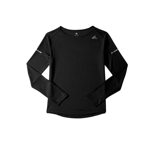 adidas-SQ RUN LS TEE W